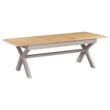 Oxford Painted Oak Extending Trestle Dining Table (1.8 m- 2.3 m) - HomePlus Furniture
