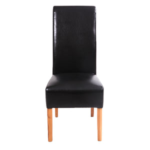 London Faux Leather Dining Chair | Black - HomePlus Furniture - HomePlus Furniture