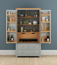 Cambridge Grey Painted Oak Larder Unit - HomePlus Furniture