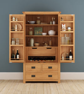 Cambridge Oak Larder Unit - HomePlus Furniture