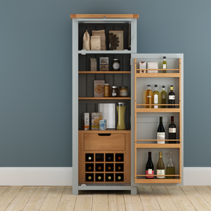 Cambridge Grey Painted Oak Pantry Unit - HomePlus Furniture