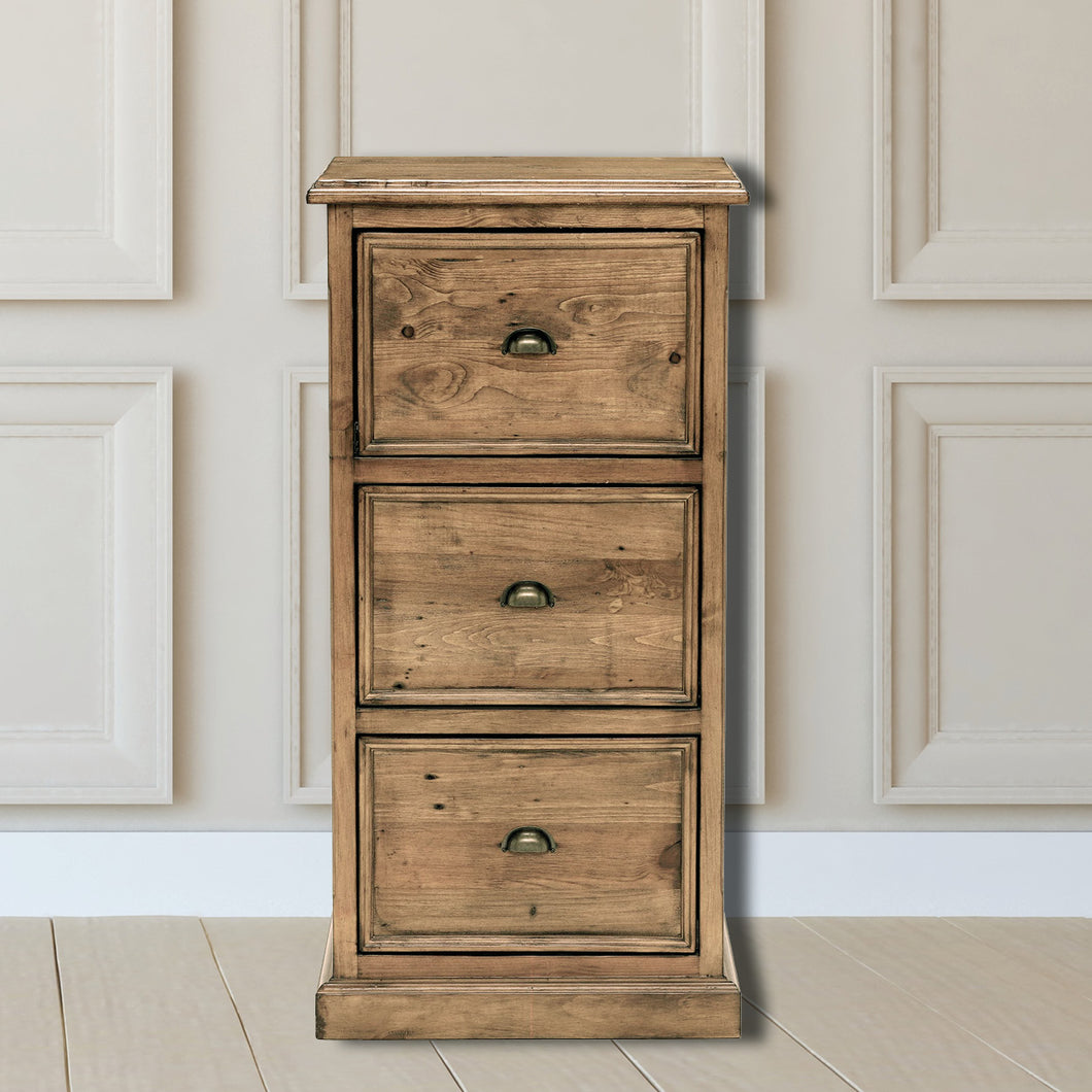 Oxford Light Pine 3 Drawer Filing Cabinet