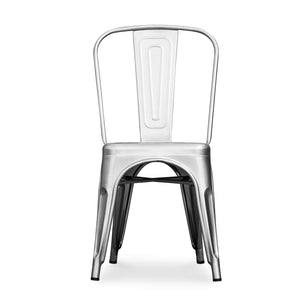 Tolix Cafe Style Chair | Silver - HomePlus Furniture