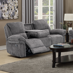 Rimini 3 Seater Reclining Sofa | Grey