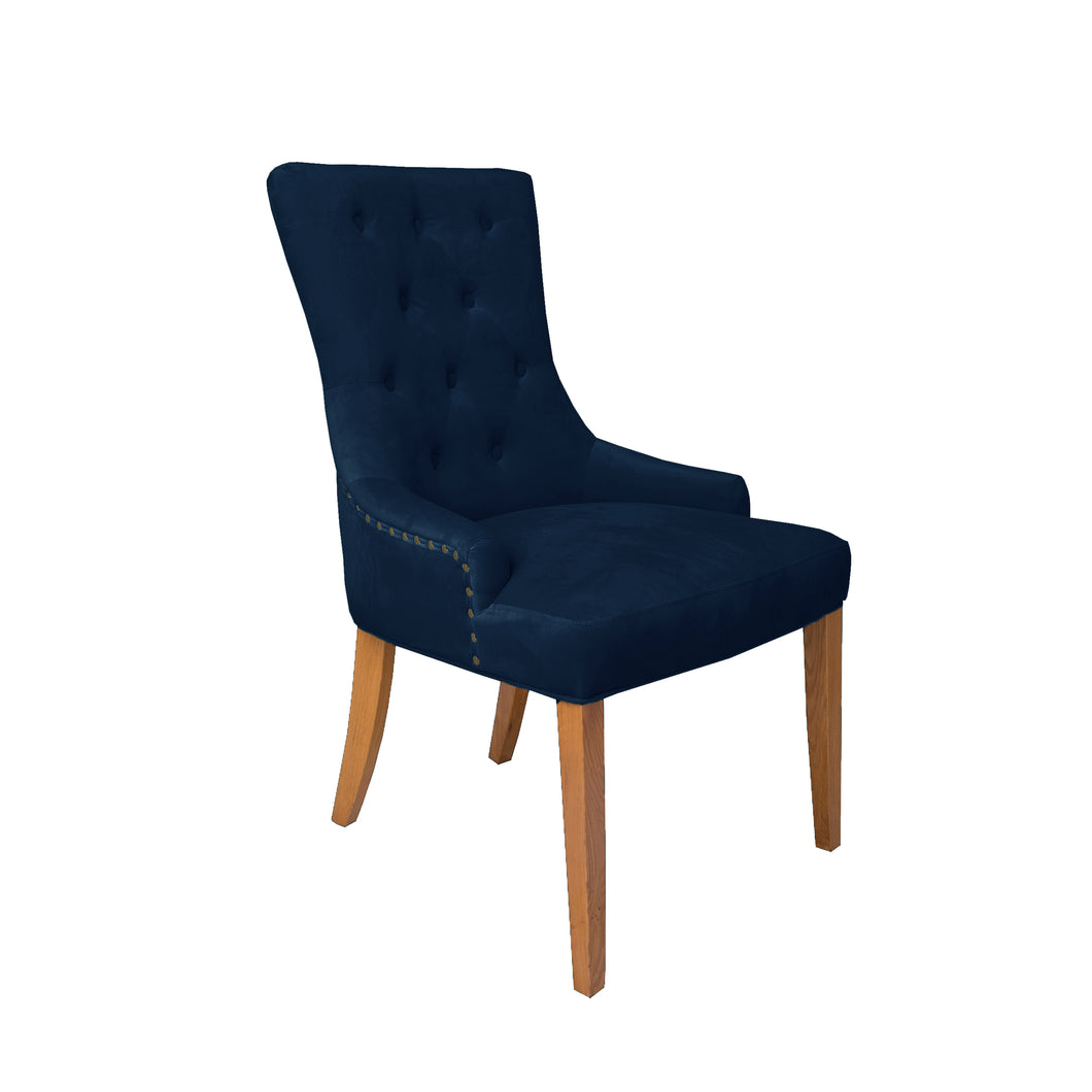 Regent Velvet Dining Chair - Navy - HomePlus Furniture - HomePlus Furniture