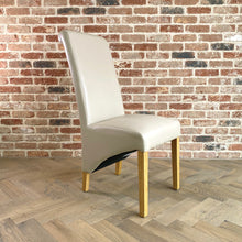 Rhianna Leather Button Back Dining Chair | Cream - HomePlus Furniture