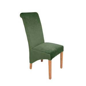 Rhianna Velvet Button Back Dining Chair | Green - HomePlus Furniture