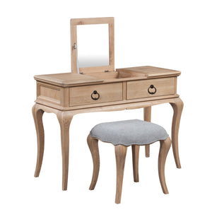 Camille Limewash Oak Dressing Table Set