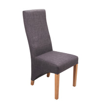 Baxter Linen Dining Chair - Slate Blue - HomePlus Furniture - HomePlus Furniture