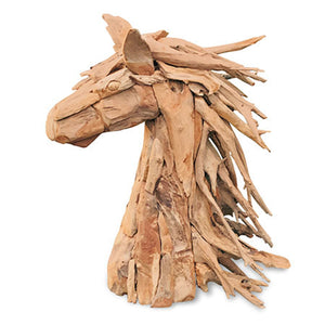 Driftwood Horse Head | Small - HomePlus Furniture