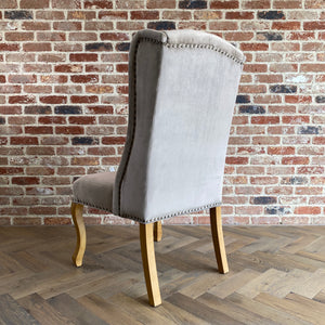 Teresa Velvet Dining Chair | Beige - HomePlus Furniture