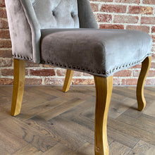 Teresa Velvet Dining Chair | Grey - HomePlus Furniture