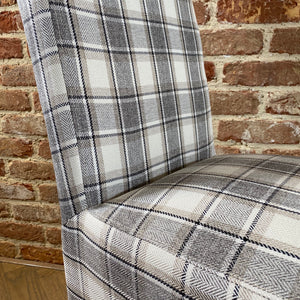 Trent Dining Chair | Herringbone Grey - HomePlus Furniture