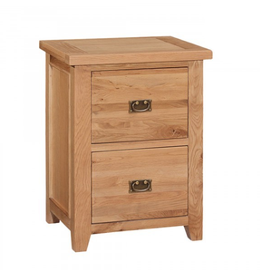 Canterbury Oak 2 Drawer Filing Cabinet