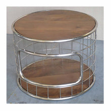 Industrial Round Coffee Table - HomePlus Furniture