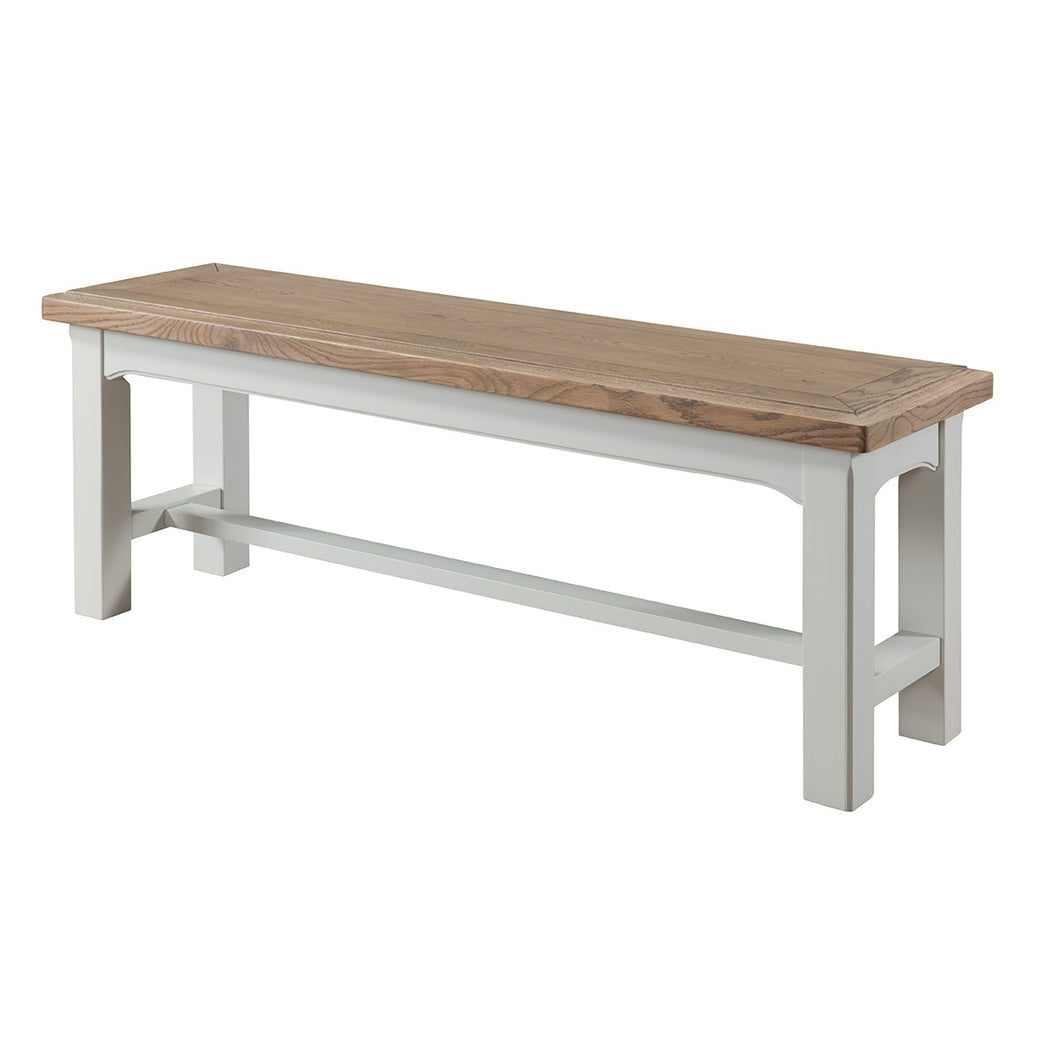 Georgia Grey Painted Oak Bench - Georgia - HomePlus Furniture