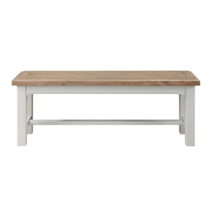 Georgia Grey Painted Oak Bench - HomePlus Furniture