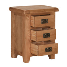 Cambridge Oak 3 Drawer Bedside