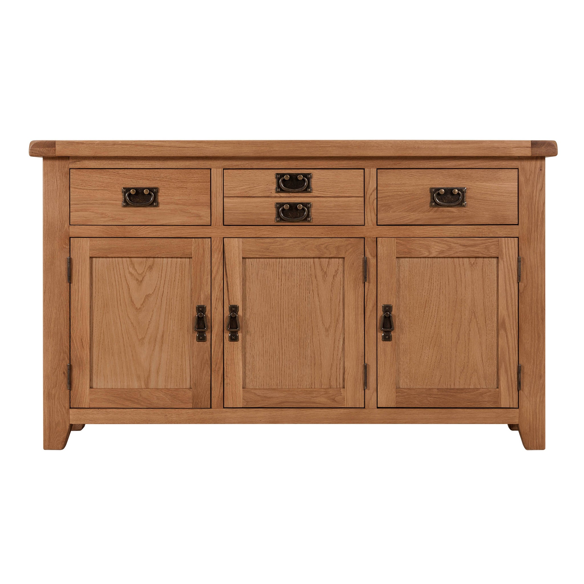 Cambridge Oak 3 Door 3 Drawer Sideboard – HomePlus Furniture