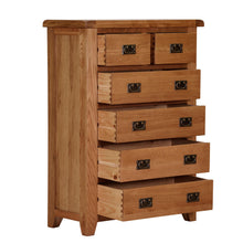 Cambridge Oak 2 Over 4 Chest Of Drawers