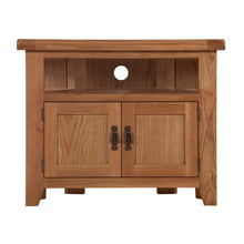 Cambridge Oak Corner TV Unit - HomePlus Furniture