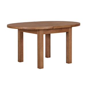 Cambridge Oak Round Extending Dining Table (1.1 m-1.5 m)