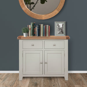 Cambridge Grey Painted Oak 2 Door 2 Drawer Sideboard
