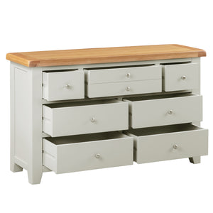 Cambridge Grey Painted Oak 3 Over 4 Chest Of Drawers