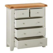Cambridge Grey Painted Oak 2 Over 3 Chest Of Drawers