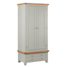 Cambridge Grey Painted Oak Double Wardrobe