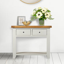 Cambridge Grey Painted Oak 2 Drawer Console Table