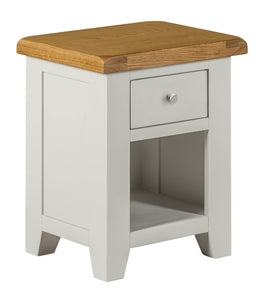 Cambridge Grey Painted Oak Small 1 Drawer Bedside - HomePlus Furniture