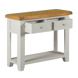 Cambridge Grey Painted Oak 2 Drawer Console Table - HomePlus Furniture