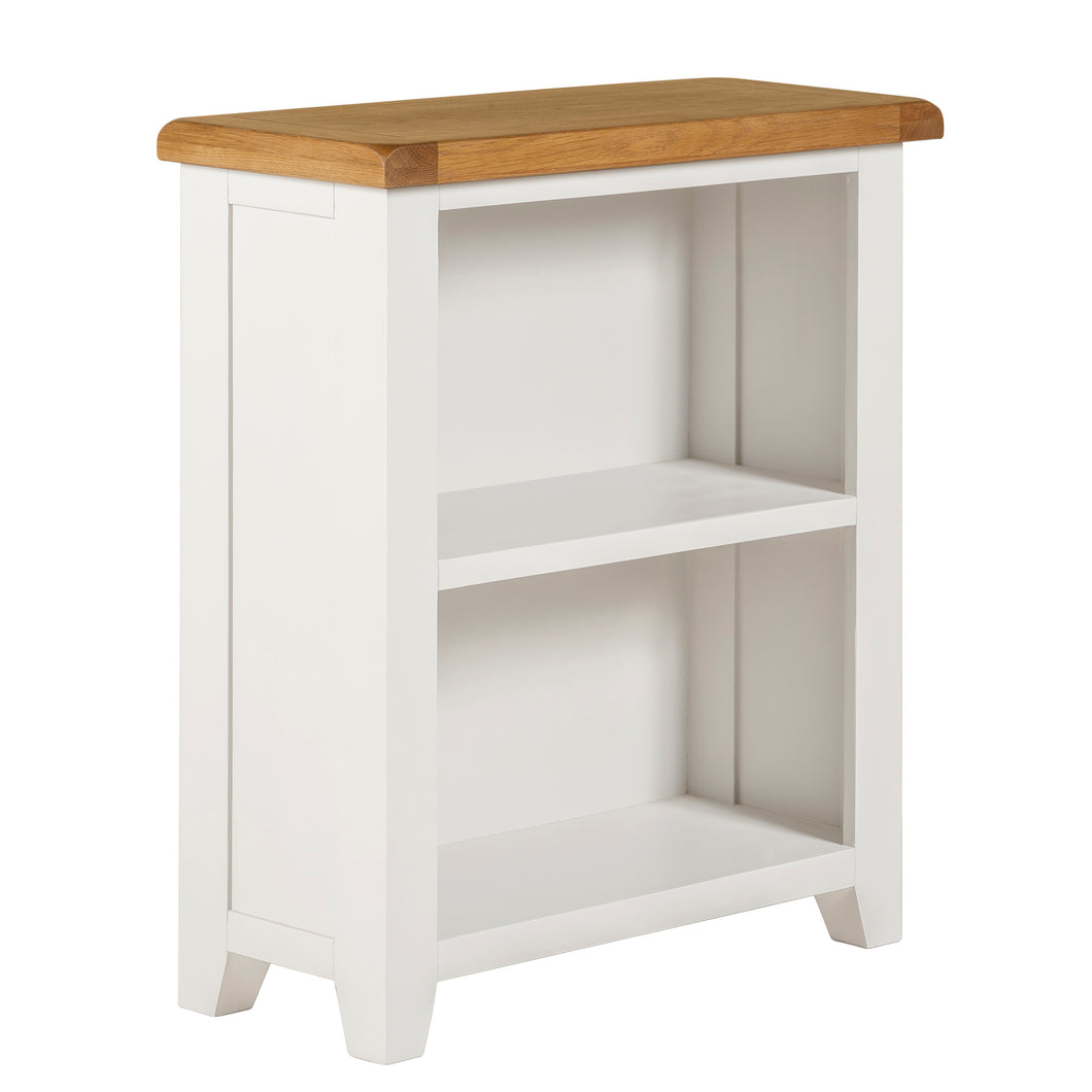 Cambridge White Painted Oak Small Bookcase (0.9 m) - HomePlus Furniture