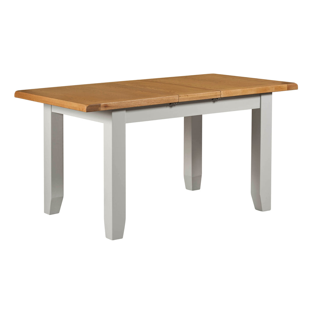 Cambridge Grey Painted Oak Small Extending Dining Table (1.2 m-1.5 m) - HomePlus Furniture