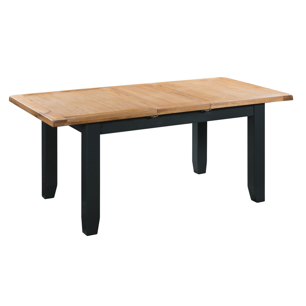 Cambridge Blue Painted Oak Medium Extending Dining Table (1.4 m-1.8 m) - HomePlus Furniture