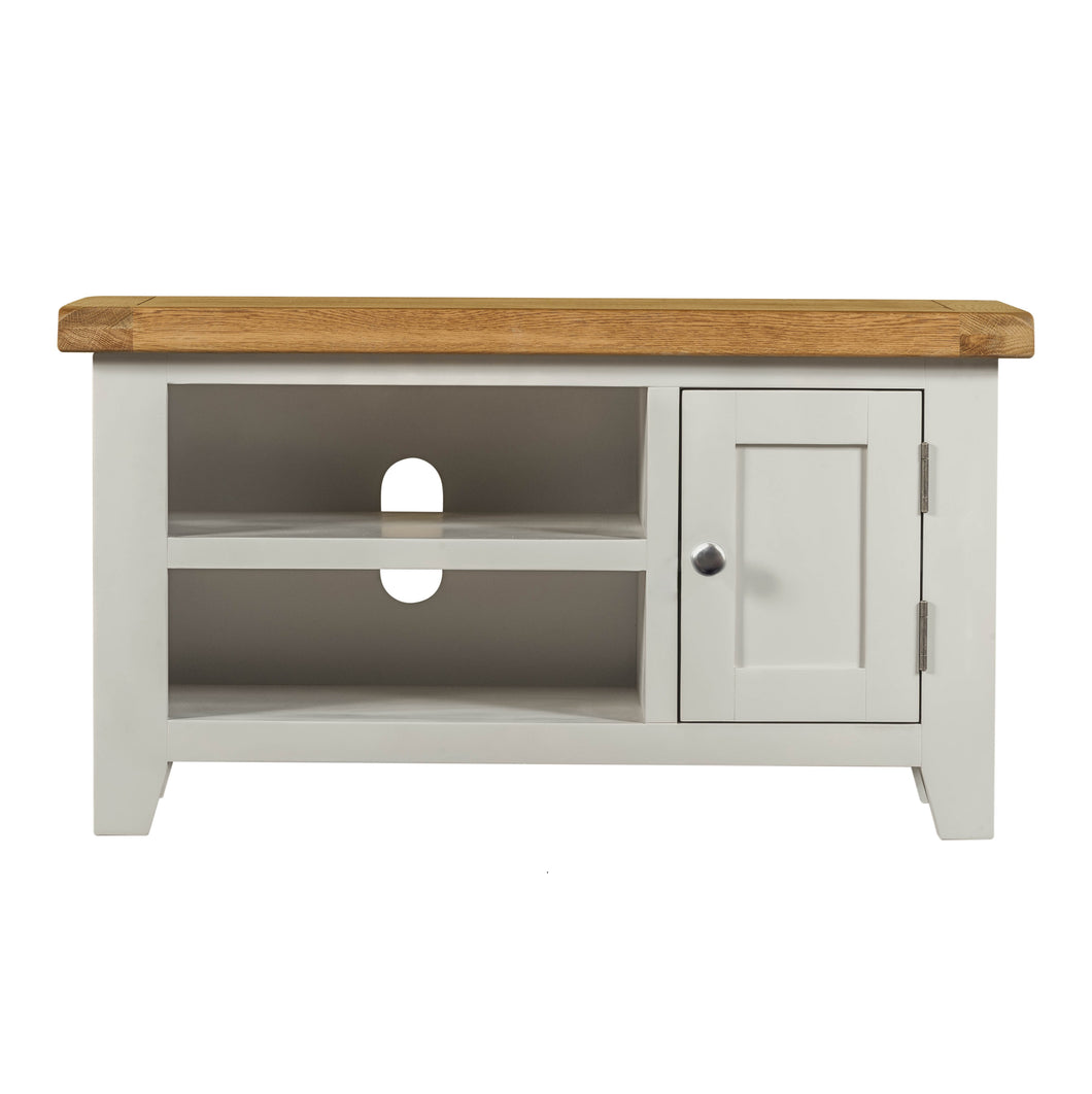 Cambridge Grey Painted Oak Small TV Unit - Cambridge - HomePlus Furniture