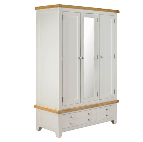 Cambridge Oak 3 Door 2 Drawer Wardrobe