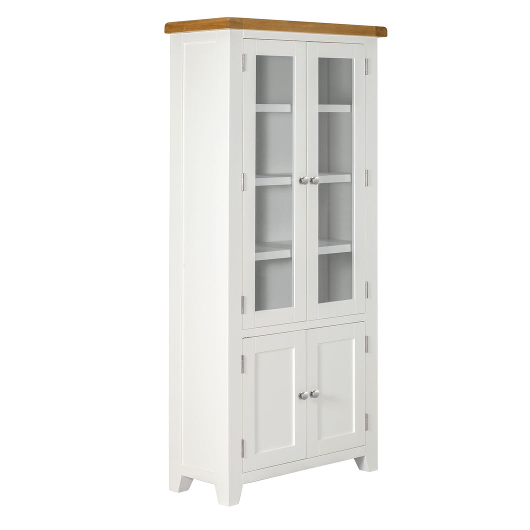 Cambridge White Painted Oak Display Cabinet - HomePlus Furniture