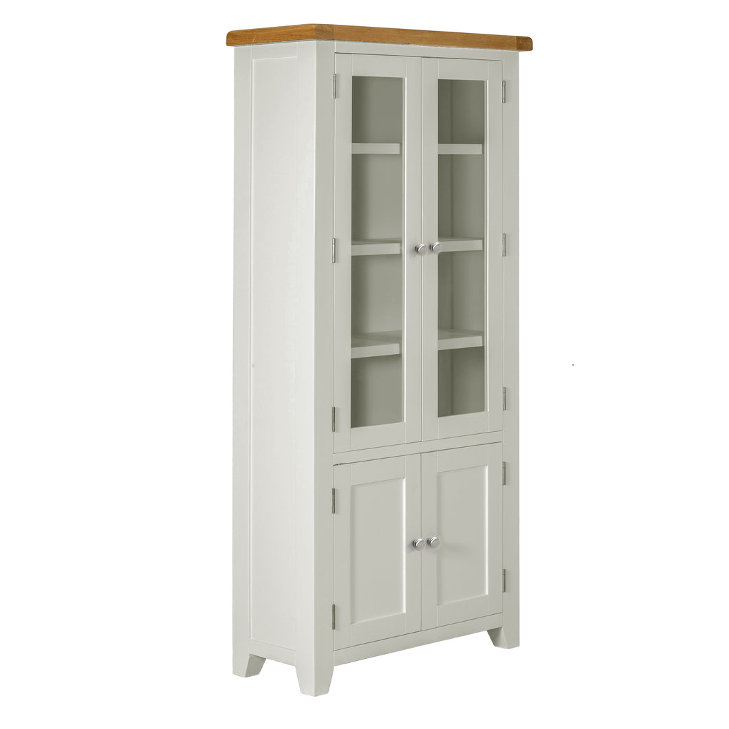 Cambridge Grey Painted Oak Display Cabinet - Cambridge - HomePlus Furniture