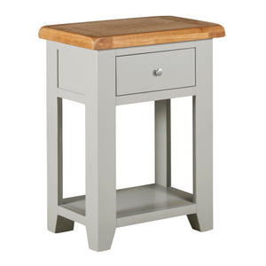 Cambridge Grey Painted Oak 1 Drawer Console Table - HomePlus Furniture