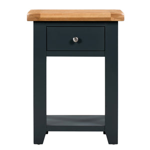 Cambridge Blue Painted Oak 1 Drawer Console Table - Cambridge - HomePlus Furniture