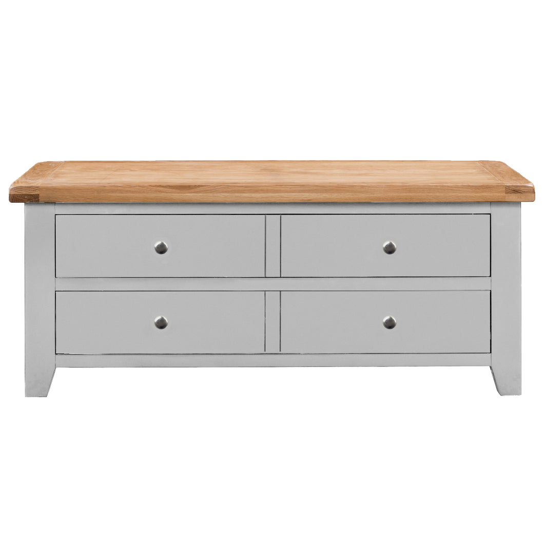 Cambridge Grey Painted Oak Storage Coffee Table - HomePlus Furniture