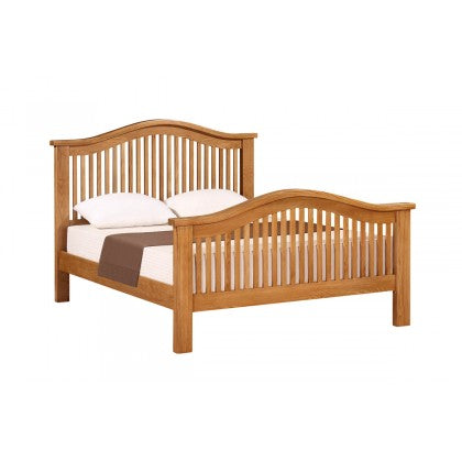 Canterbury Oak 4ft 6' Double Curved Bed - Canterbury Oak - HomePlus Furniture