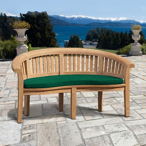 Curved Teak Wooden 'Peanut' Garden Bench - HomePlus Furniture