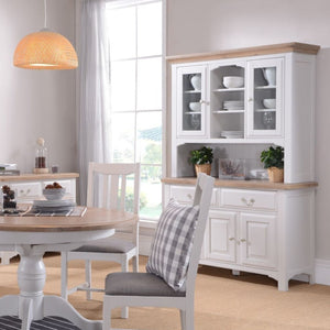 Georgia Grey Painted Oak Large Sideboard
