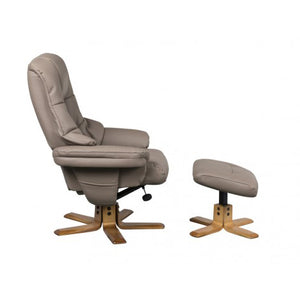 Greenwich Swivel Recliner Chair - Earth - HomePlus Furniture