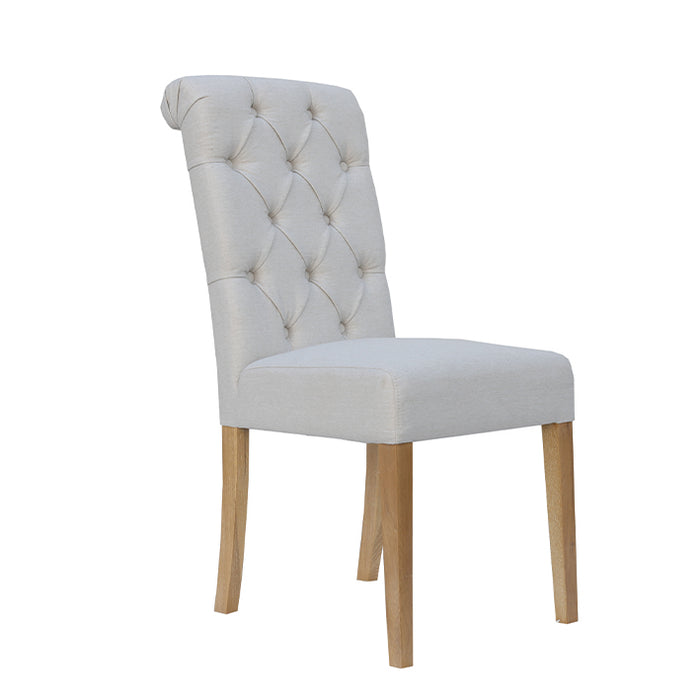 Button Back Chair with Scroll Top (Sold in Pairs)