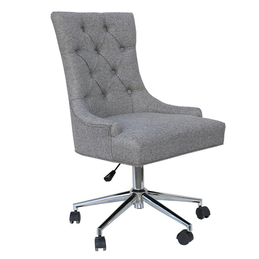 Wing Back Button Office Chair with Chrome Legs