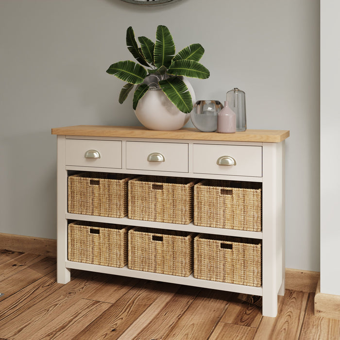 Rillington 3 Drawer, 6 Basket Unit